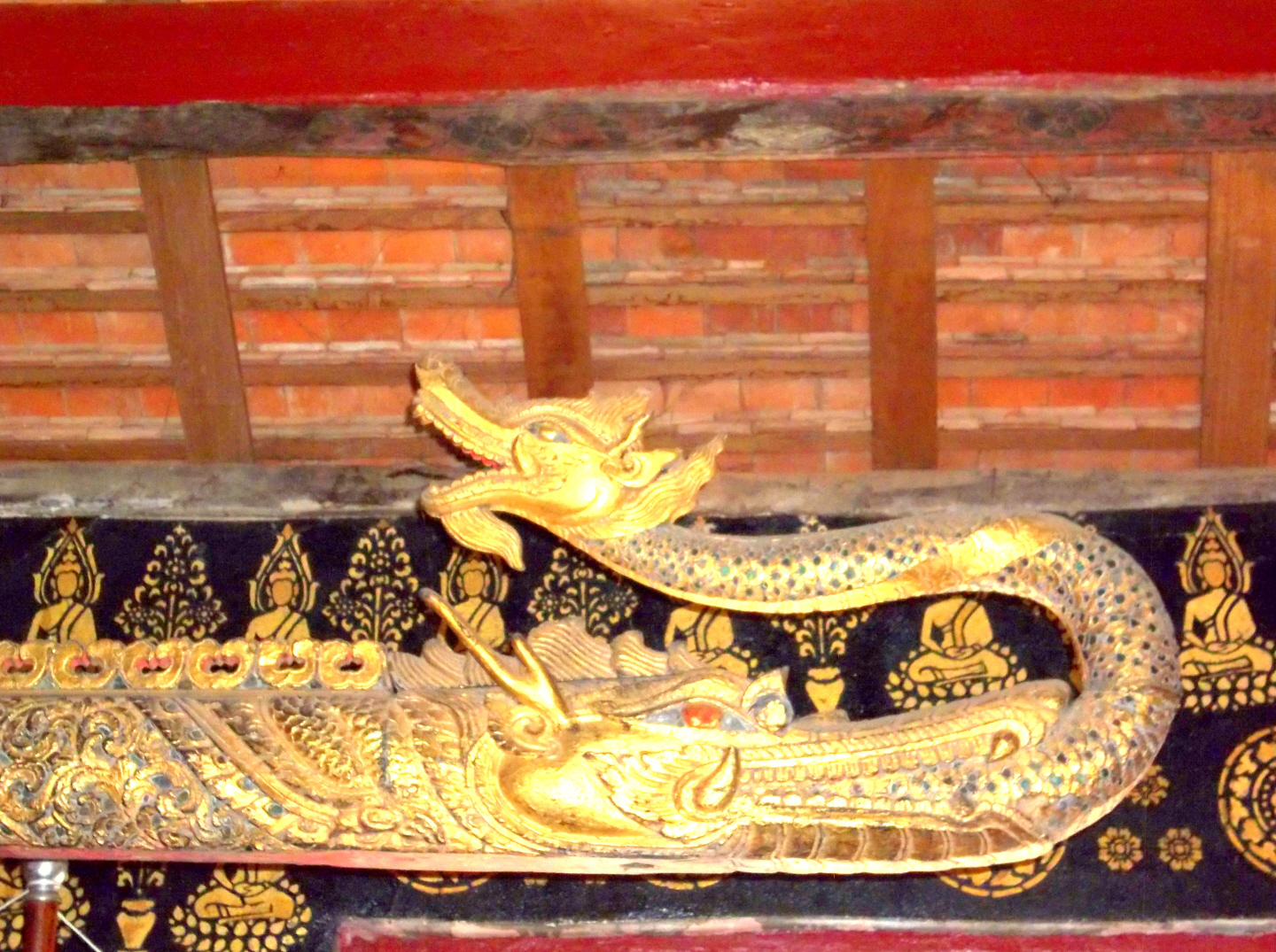 Decorative Endpiece for Pole Suspending Temple Boat - Luang Prabang, Laos