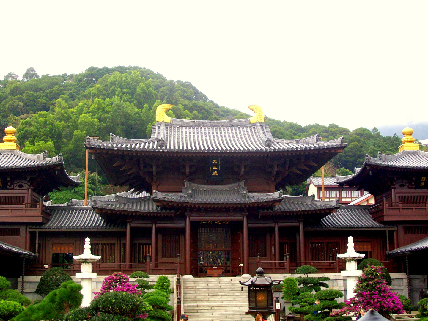 Exquisite Chi Lin Buddhist Nunnery - Kowloon Island off of Hong Kong