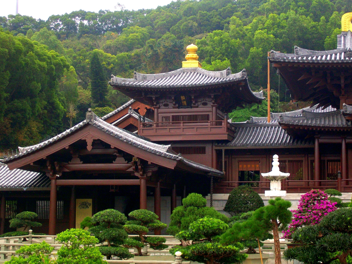 Absolutely Stunning with Lovely Gardens -Chi Lin Buddhist Nunnery - Kowloon Island off of Hong Kong