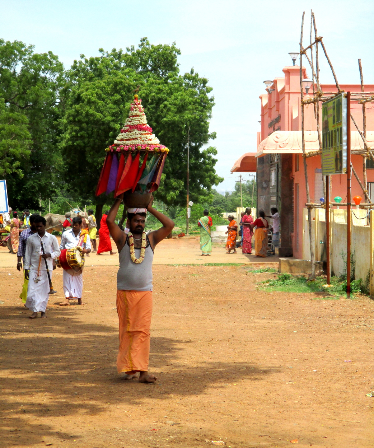 Procession of Devotees for village Goddess, Vadalur, Tamil Nadu, India