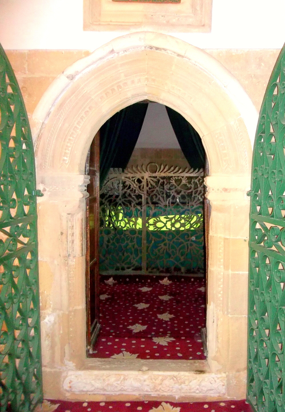 Entrance to the Dargah of Umm Haran at Hala Sultan Tekke - Knew The Holy Prophet - Her Husband was a Companion of the Prophet -Cyprus