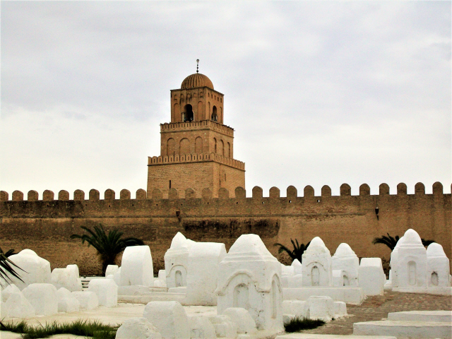 The Great Mosque of Kairouan  (approx. 670 CE) - Tunisia