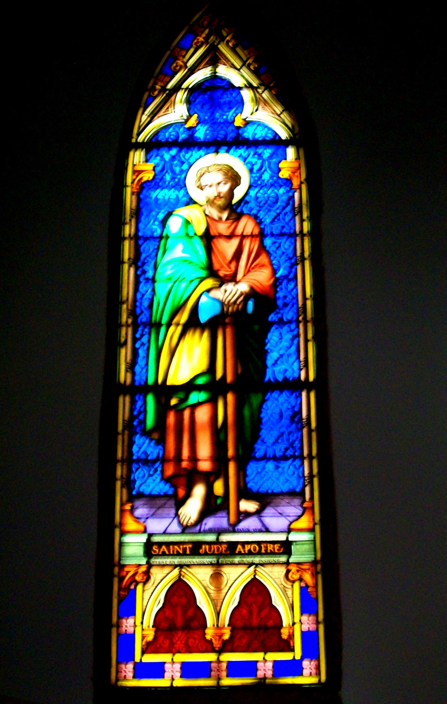 One of the Many Beautiful  Stain Glass Widows at St. Joseph's Cathedral