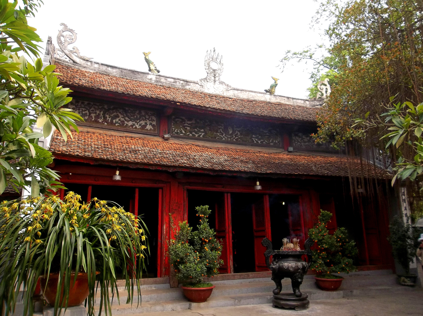 Ngoc Son Temple - Temple of Jade Mountain -on Hoan Kiem Lake in Hanoi, Viet Nam (19th Cen)