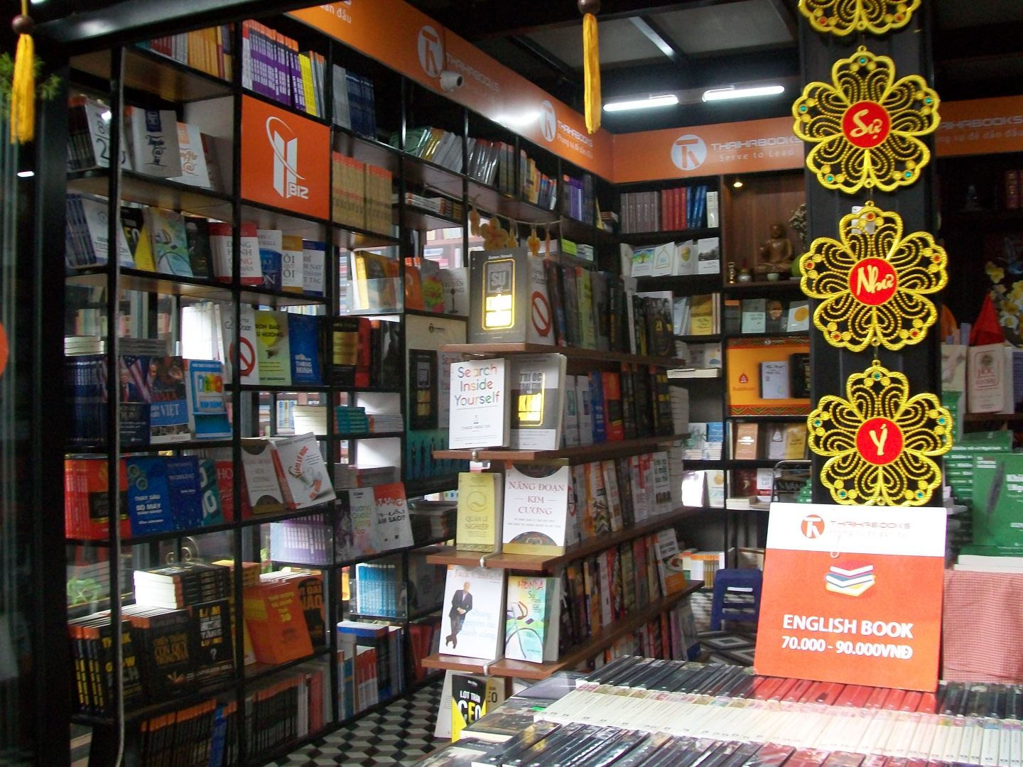 A Shop in Beautiful Book Alley in Ho Chi Min CIty - VIet Nam