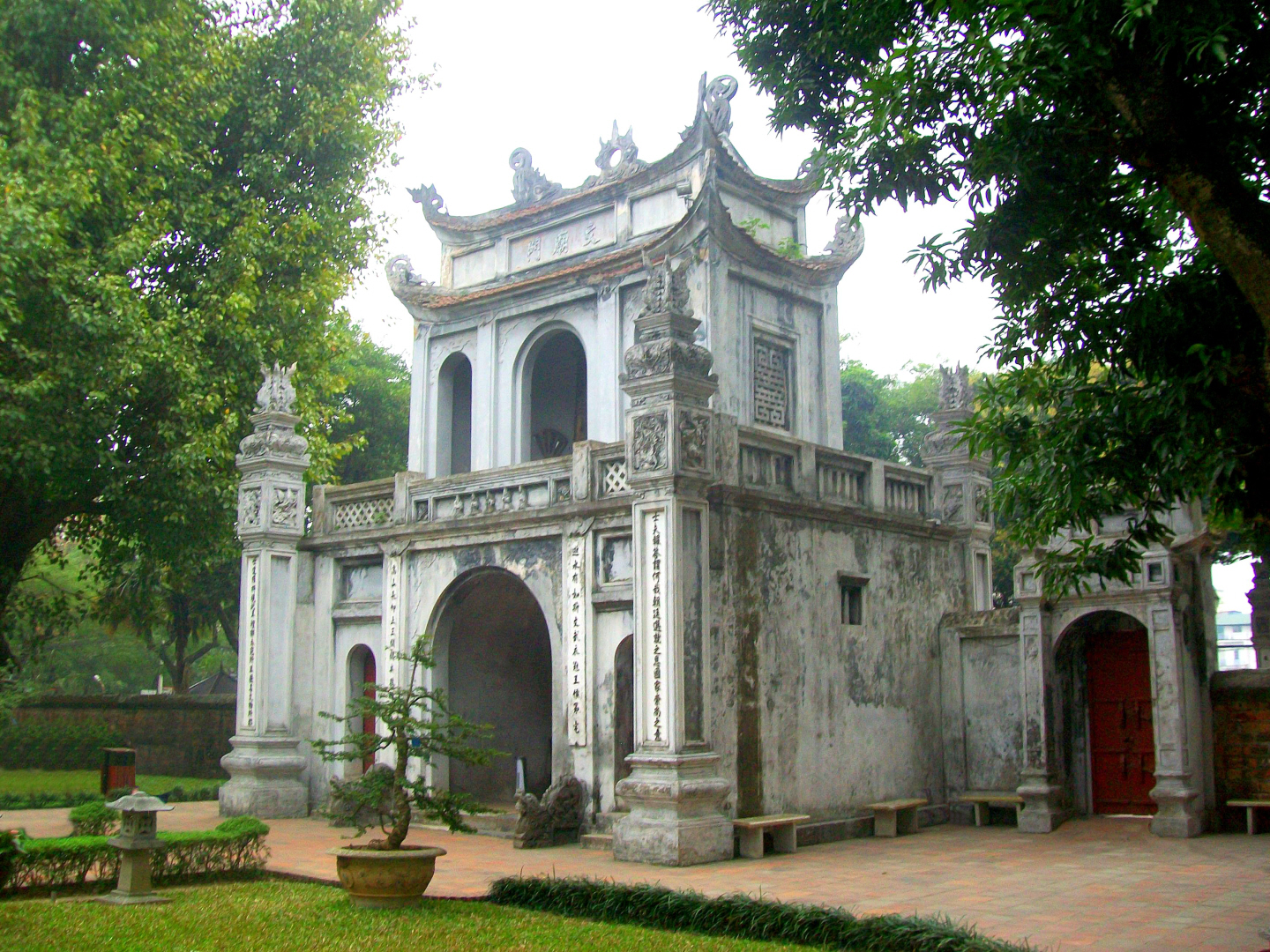 Entrance to the Confucian Temple in Hanoi, Viet Nam