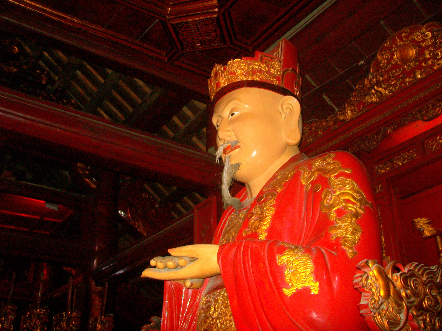 Kong Fuzi  (ie: Kongzi, Confucious) in Learning Temple - Hanoi, Viet Nam
